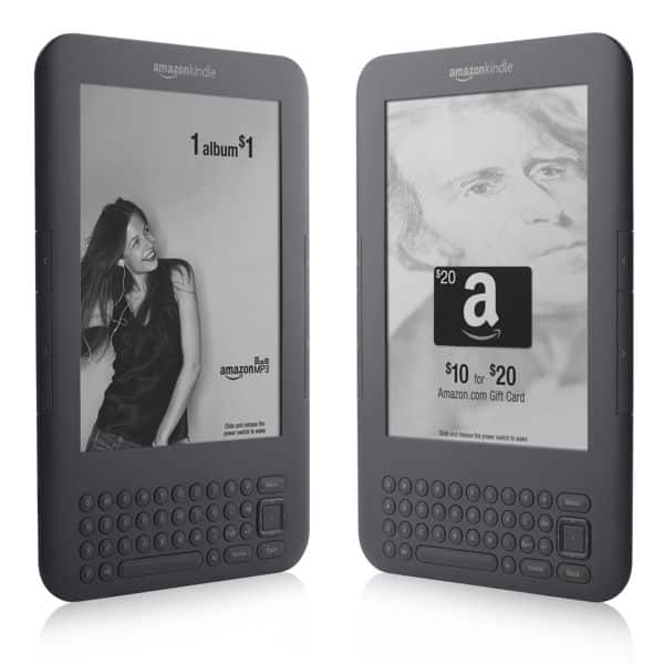 Amazon returns fire on touchscreen Nook with cheaper, ad-supported Kindle 3G