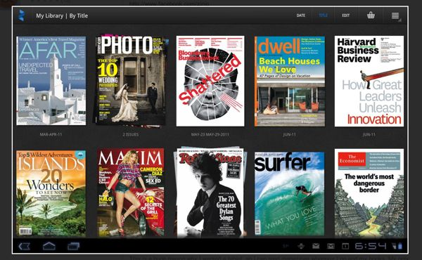 Zinio bows magazine app for Android tablets