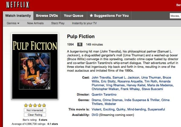 """Pulp Fiction,"" ""English Patient,"" and hundreds of other Mirimax movies set to stream on Netflix"