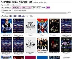"""InstantWatcher offers easy way to sort Netflix """"instant"""" videos"""