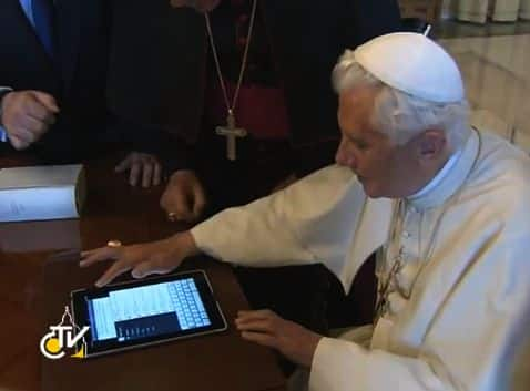 Now the Pope's on Twitter, too (video)