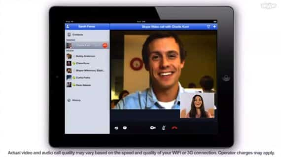 Skype for iPad finally on tap?
