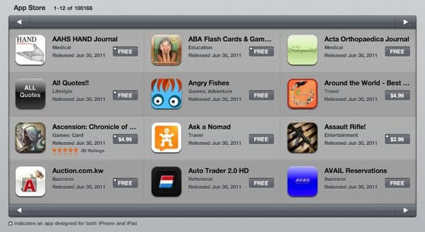 Number of iPad apps in App Store: 100,000 and counting