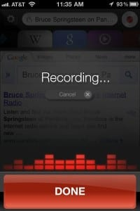 Dragon Go for iPhone: Got a question? Just speak into the microphone