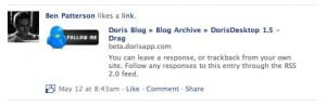 Facebook liked link in news feed 300x97 What happens when you like something on Facebook?
