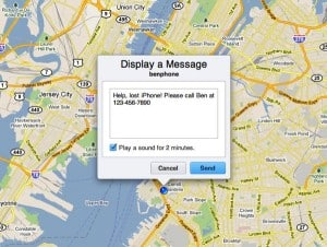Find My iPhone display message 300x226 How to activate Find My iPhone (quick tip)