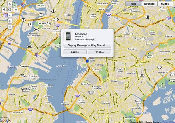 Find My iPhone screenshot How to activate Find My iPhone (quick tip)