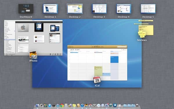 Mac OS X Lion tip: How to (sort of) rearrange desktop spaces in Mission Control