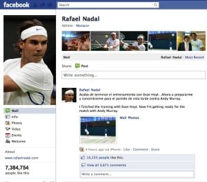 Nadal Facebook fan page1 300x265 What happens when you like something on Facebook?