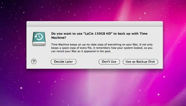 how to set up time machine on mac