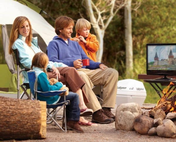 """Dish Network's """"Tailgater"""": A 10-pound, cooler-size satellite TV dish"""