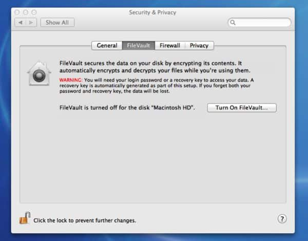 Mac OS X Lion tip: How to protect the data on your Mac with File Vault