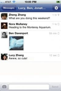 Facebook Messenger app for iPhone, Android: Instant group chat, plus a dash of GPS