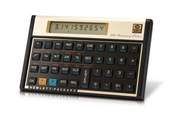 The HP 12c Financial Calculator from 1981: 30 years later, still on sale