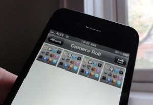iPhone camera roll 300x207 How to take a screenshot on your iPhone or iPad