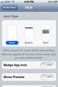 Notification Center settings 200x300 How to turn off your iPhones unread email badge (iOS 5 tip)