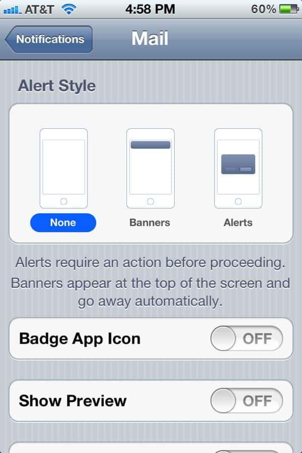 how to turn off your iphone u0026 39 s unread email badge  ios 5