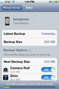 iCloud Backup details 200x300 How do I know if iCloud is backing anything up? (reader mail)