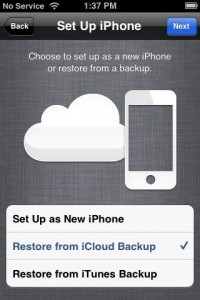 iCloud backup restore from backup 200x300 How to restore your iPhone (or iPad) with iCloud Backup