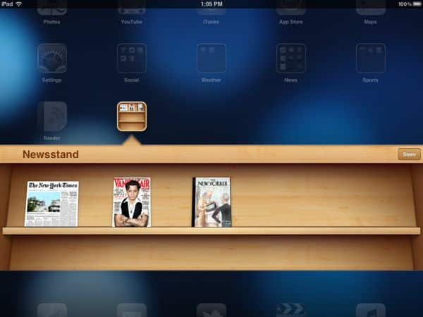 "Why can't I move the iOS 5 ""Newstand"" into a folder? (reader mail)"