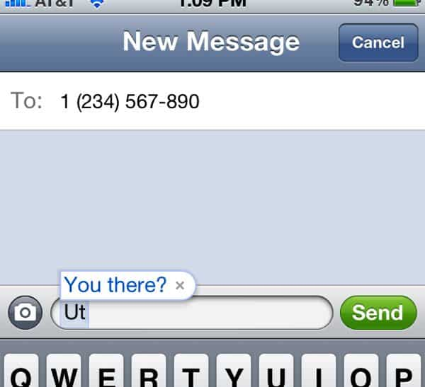 iOS keyboard shortcut in text message How to create custom keyboard shortcuts on your iPhone or iPad (iOS 5 tip)
