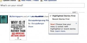 "How to sort your Facebook News Feed stories by ""most recent"" rather than ""highlighted"""
