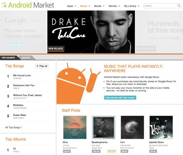 Google launches online music store, offers free online storage for 20,000 songs