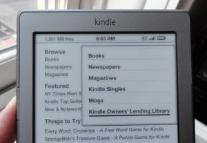 Kindle Lending Library menu 300x207 How to borrow a Kindle book from Amazon