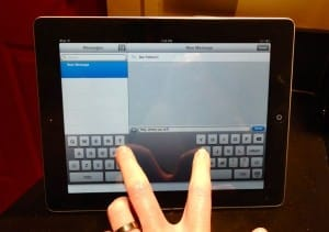iPad split keyboard