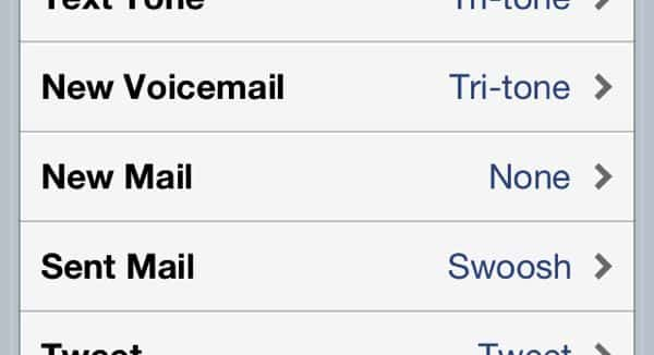 "Is there a way to turn off the ""new mail"" sound on my iPhone? (reader mail)"