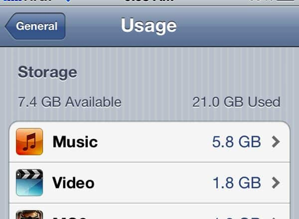 iPhone storage Is my iPhone 4S running out of storage space? (reader mail)