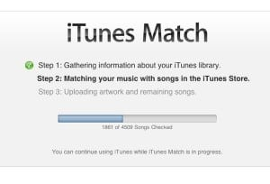 iTunes matching songs 300x204 How to stream all your music from iCloud with iTunes Match