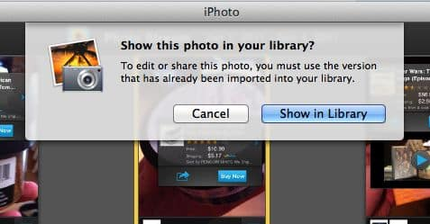 Photo Stream pop up message How to create a smart Photo Stream album in iPhoto that you can actually edit
