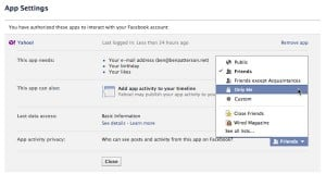 """How to keep Facebook's """"Open Graph"""" apps from sharing your activity"""