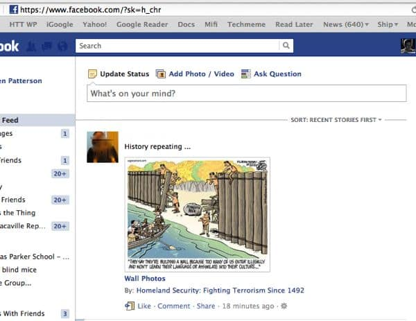 Facebook most recent URL How to make your Facebook news feed default to most recent stories first