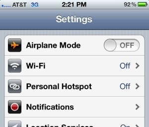 iPhone hotspot settings 300x255 Mobile Wi Fi hotspots: Your questions, answered