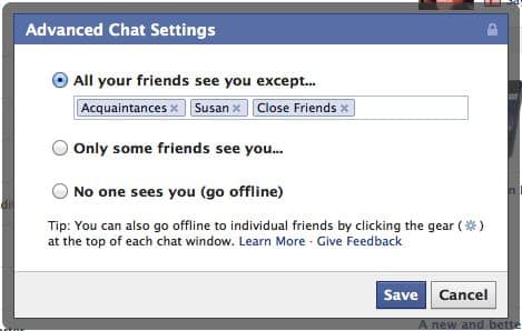 How to choose who can—and can't—see you in Facebook's chat sidebar
