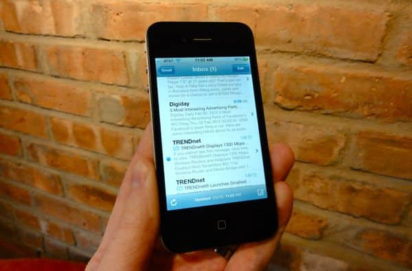 iPhone tip: How to see more (or less) of the messages in your email inbox