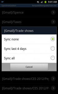 Select new Gmail labels to sync 187x300 Android tip: How to sync all your Gmail folders, not just the inbox