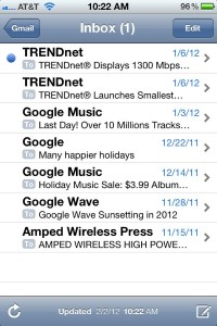 iPhone email preview window 200x300 iPhone tip: How to see more (or less) of the messages in your email inbox