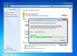 Creating a Windows repair disc