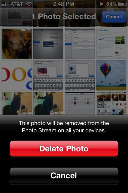 How to delete a photo from Photo Stream (updated)