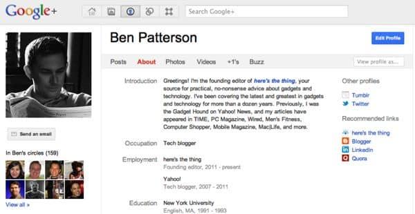 Google+-profile-page