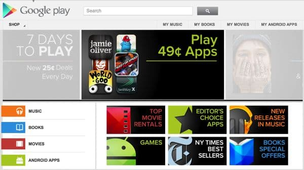"""Google Play"" is new home for Android apps, music, videos, and books"