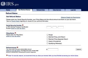 IRS Refund Status web page 300x200 How to track the status of your IRS tax refund