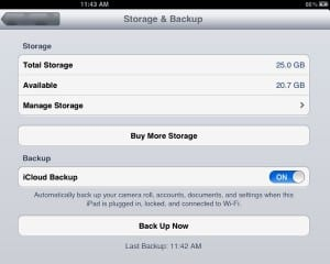 Making a new iCloud backup 300x240 How to restore an iCloud backup of your old iPad to your new iPad