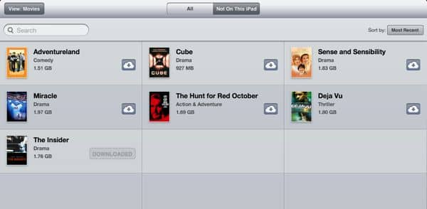 Now showing on iCloud: movies