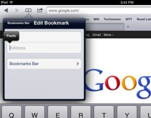 Paste Pin It button code 300x234 How to add a Pinterest Pin It button to the iPad (video)