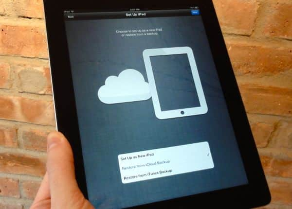 How to restore an iCloud backup of your old iPad to your new one