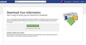 How to download your Facebook info 300x158 10 gotta know Facebook tips and tricks